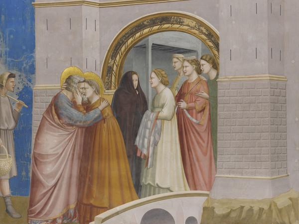 Giotto,<em> L'incontro tra Gioacchino e Anna alla Porta d'Oro</em>, 1303-1305 circa, Padova, Cappella degli Scrovegni
