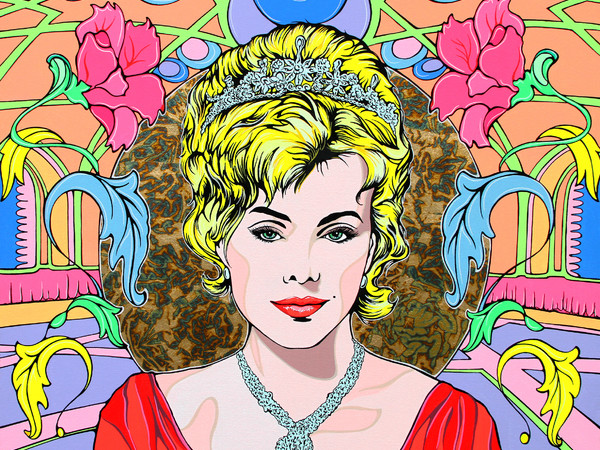 Andi FluOn, Lady Royal. Acrilicofluo su tela, cm. 80x100