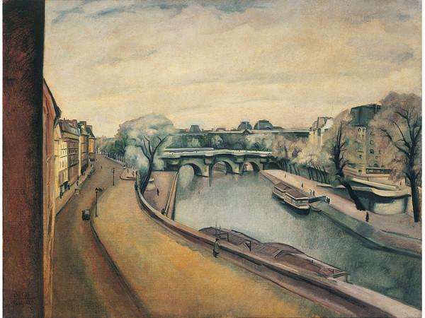 Anselmo Bucci, Parigi, La Senna, 1922