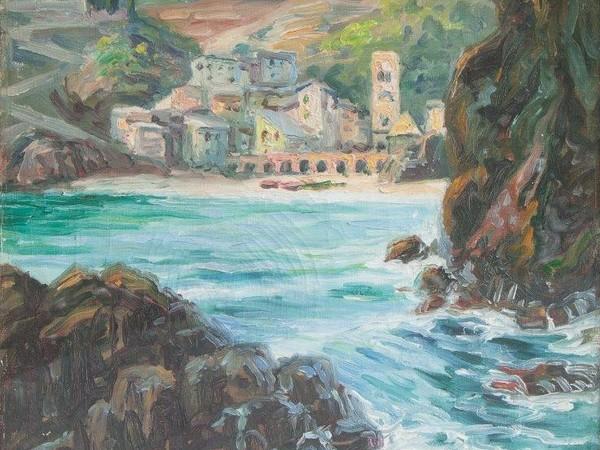 Carlo Boeklin, Monterosso, olio su tela cm 35x40