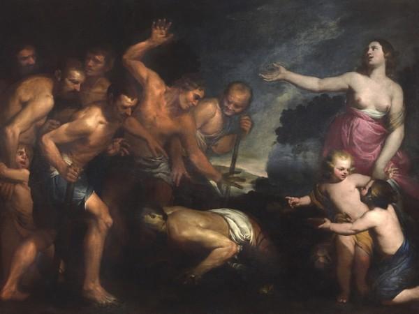 Orazio De Ferrari, La favola di Latona. Olio su tela, cm 193 x 261
