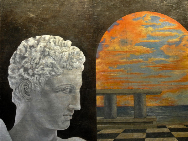 Federico Buzzi, Nec plus ultra, 82x66 cm., olio su tela, 2017