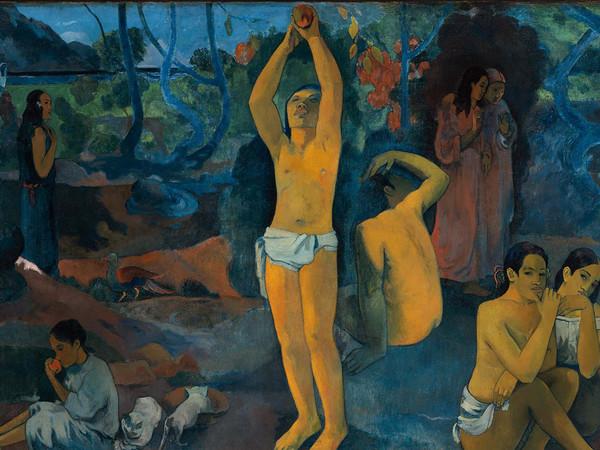 Paul Gauguin, Da dove veniamo? Chi siamo? Dove andiamo?, 1897, Olio su tela, 374.6 x 139.1 cm, Museum of Fine Arts, Boston