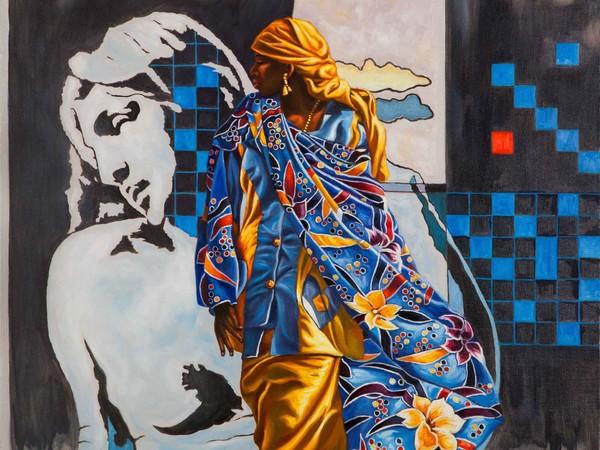 Ali Hassoun, Da Tano da Michelangelo 2, olio su tela, cm 54x70