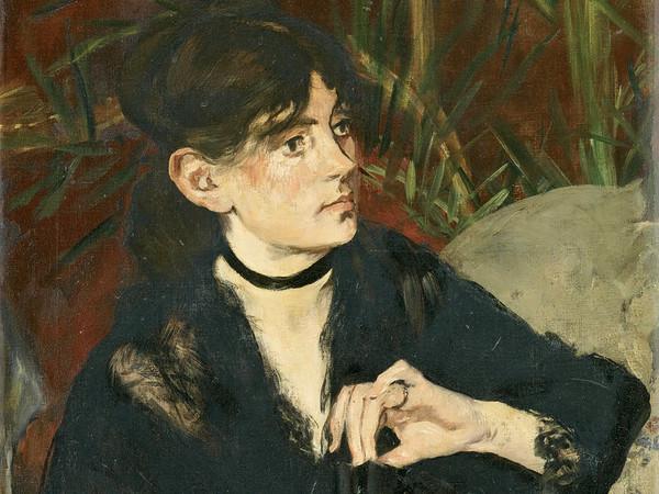 Édouard Manet, Berthe Morisot con il ventaglio, 1874, Olio su tela, 50.5 x 61 cm, Parigi, Musée d'Orsay | © René-Gabriel Ojéda / RMN-Réunion des Musées Nationaux/ distr. Alinari