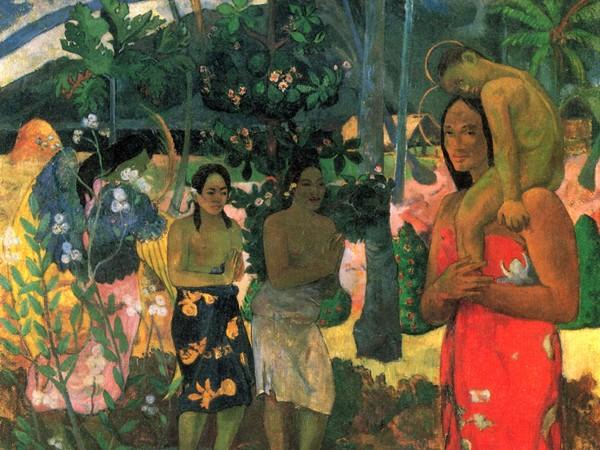 Paul Gauguin, Ia Orana Maria, 1891, Olio su tela, 87.7 x 113.7 cm, Metropolitan Museum of Art, New York City