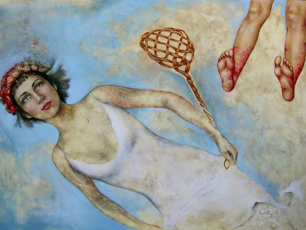 Alessandra Binini, Gli impossibili possibili, 2005, olio su tavola, cm. 90x125