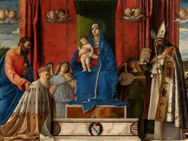 Giovanni Bellini, <em>Pala Barbarigo</em>, 1488, Olio su tela, Venezia, Palazzo Ducale<br />