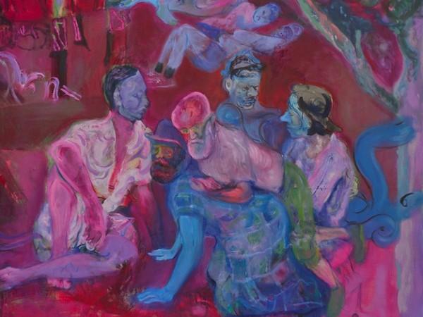 Nebojša Despotović, Our little picnic, 2020, oil and acrylic on canvas, 163 x 161 cm.