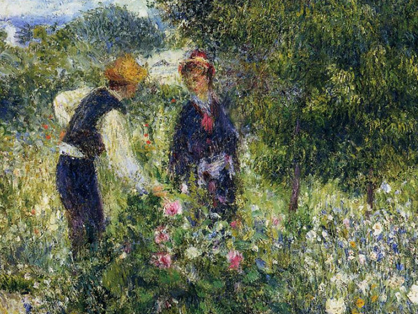 Picking Flowers, Pierre Auguste Renoir, National Gallery of Art, Washington