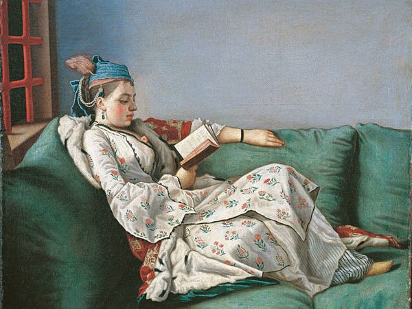 Jean-Étienne Liotard, Ritratto detto di Maria Adelaide di Francia vestita alla turca, 1753. Olio su tela. Firenze, Gallerie degli Uffizi, Galleria delle Statue e delle Pitture