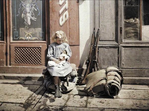 """Fotografia dalla mostra """"14-18. La guerra a colori"""""""