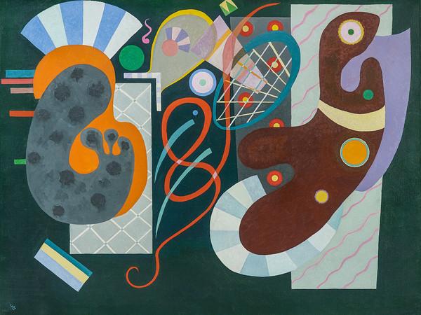 Wassily Kandinsky, Noeud rouge, 1936, olio su tela, cm. 89 x 116. Saint-Paul-de-Vence, Fondation Marguerite et Aimé Maeght