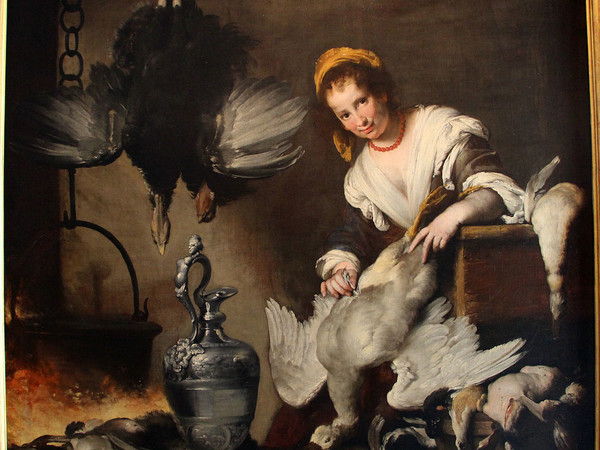 Bernardo Strozzi, La cuoca, 1625 ca., olio su tela, 176x185 cm. Musei di Strada Nuova - Palazzo Bianco, Genova