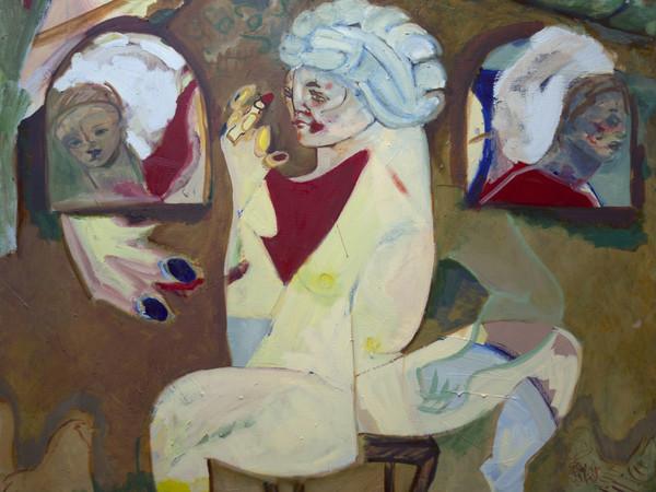 Jay Miriam, Familiar moment from nowhere, 2020, olio su tela, 152x127cm.
