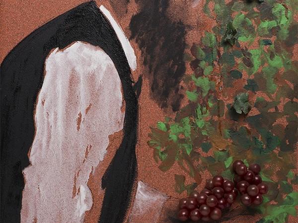 Aldo Mondino, Succot, 2004, olio su linoleum, cm 81x60 (part.)