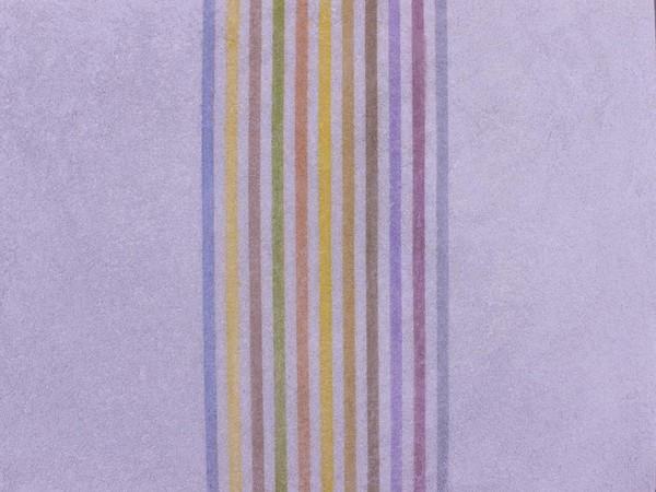 Elio Marchegiani, Grammature di colore, 1974, cm. 92 x 67. Intonaco
