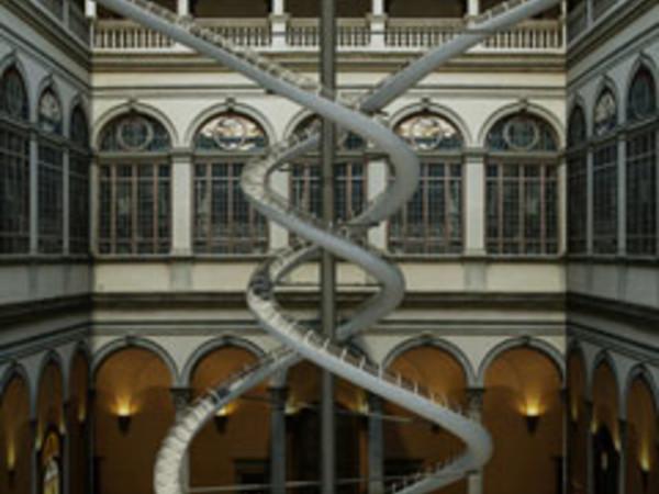 Rendering: Cortile di Palazzo Strozzi (Rendering di Michele Giuseppe Onali)