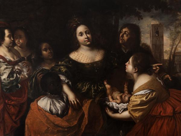 Francesco Cairo, <em>La figlia del Faraone accogliè Mosè salvato dalle acqu</em>e, 1645 ca., Olio su tela, Torino, Musei Reali - Galleria Sabauda