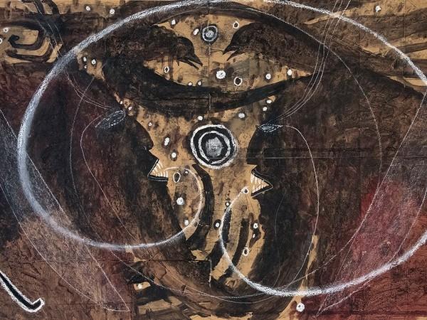 François Burland, Au Coeur des ténèbres, 2007, tecnia mista su carta, cm. 62,5x99