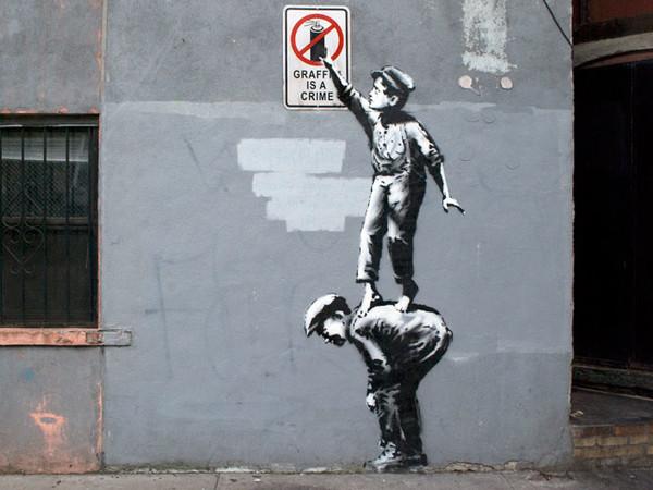 Banksy, Graffiti is a crime, New York