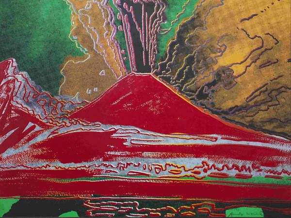 Andy Warhol, <em>Vesuvius (rosso)</em>, 1985, serigrafia a colori su cartone, 78 x 97,5 cm. Collezione Intesa Sanpaolo © The Andy Warhol Foundation for the Visual Arts Inc. by SIAE 2017