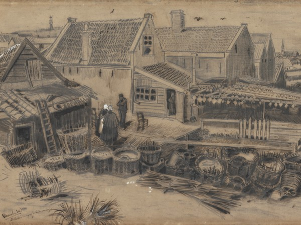 Vincent van Gogh, Fienile per l'essiccazione a Scheveningen, Fine maggio 1882, Otterlo Museum
