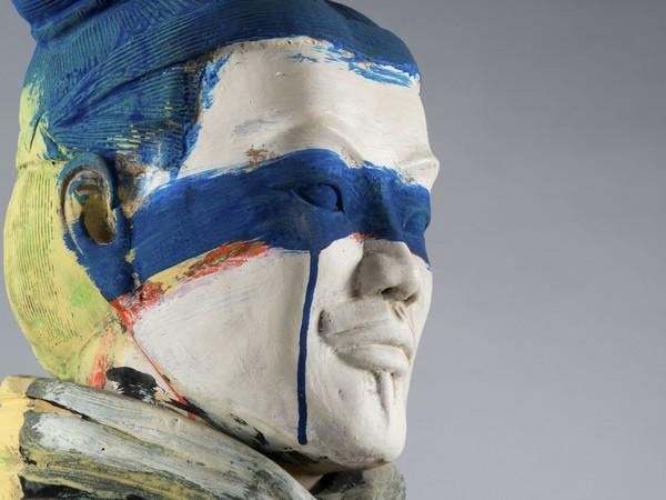 Sandro Chia, Guerrieri di Xi'an_Guerriero, 2010. Terracotta policroma, 190 cm ca.