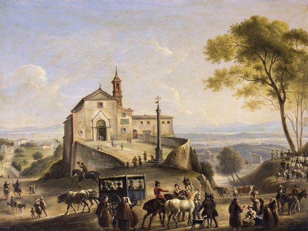 Anonimo, Veduta della Chiesa di Sant'Agnese (Montepulciano)
