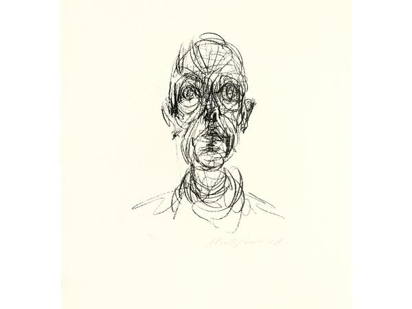 <span>Alberto Giacometti, Tête d'homme II. Illustration retenue pour Derrière le Miroir, Paris, n° 127, Mai/Juin 1961. Litografia 26 x 19,6 cm, le dessin. Collezione Eberhard W. Kornfeld, Berna</span>