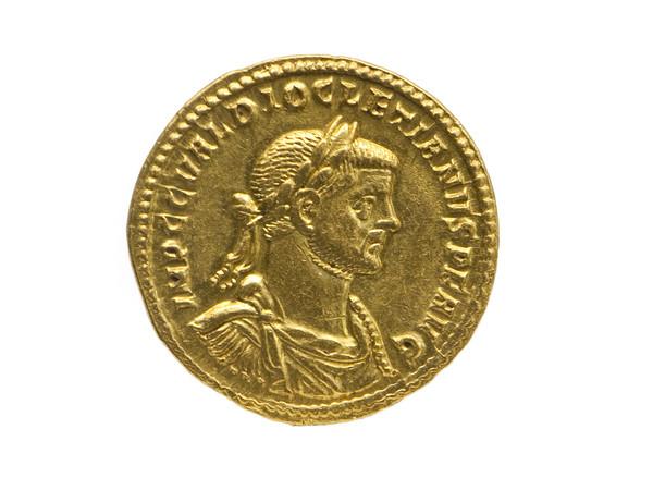 Sala XII, la moneta d'oro di Diocleziano