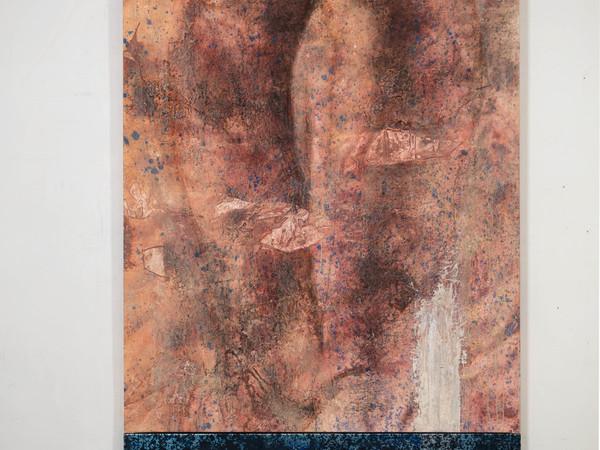Luigi Pagano, Idra, 2016, tecnica mista su tela e alluminio, cm 255x135