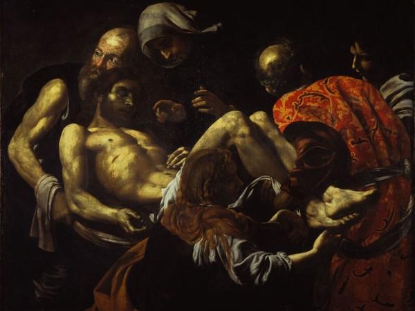 Giovan Battista Caracciolo, detto Battistello, Cristo morto trasportato al sepolcro primo quarto del XVII secolo. Olio su tela, cm. 128 x 164