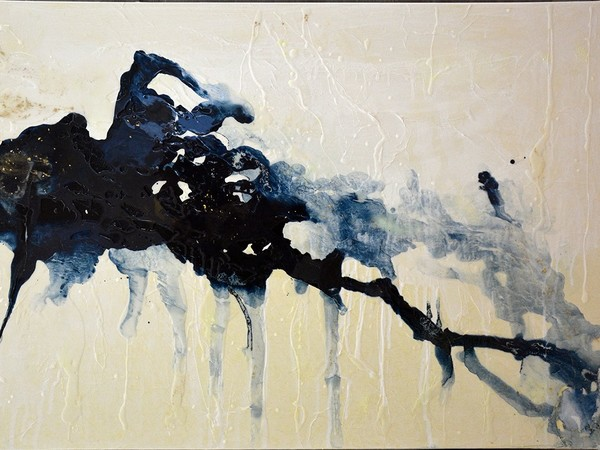 Serena Della Bona, Oro nero 1, tecnica mista su tela, 100x150 cm.
