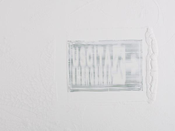 Davide Prudenza, Credere in se stessi, 2012, tecnica mista su tela, cm. 100x70