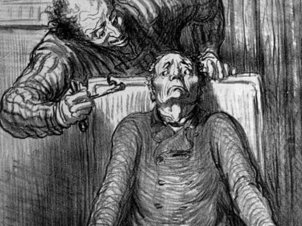 Honore Daumier, i momenti difficili della vita, litografia, 1864