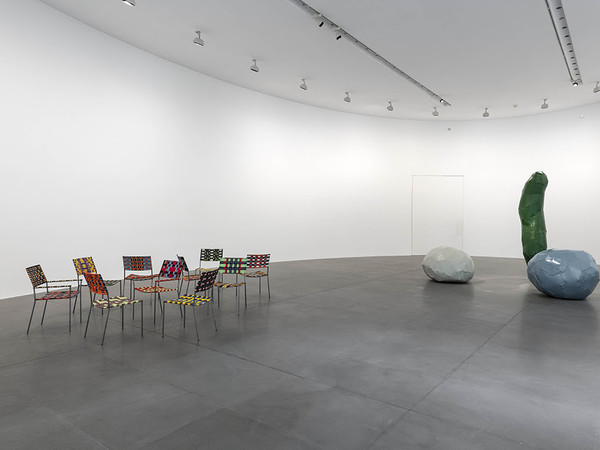 "Installation views, ""Franz West: Works 1989-2011"", Gagosian, Rome"