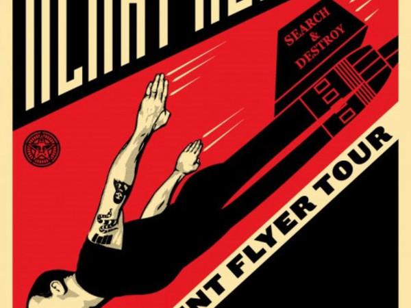 Obey, <em>Henry Rollins Frequent Flyer Tour</em>, 2010, serigrafia su carta, Collezione privata<br />