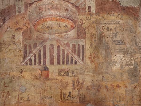 Affresco con rissa tra pompeiani e nocerini da Pompei