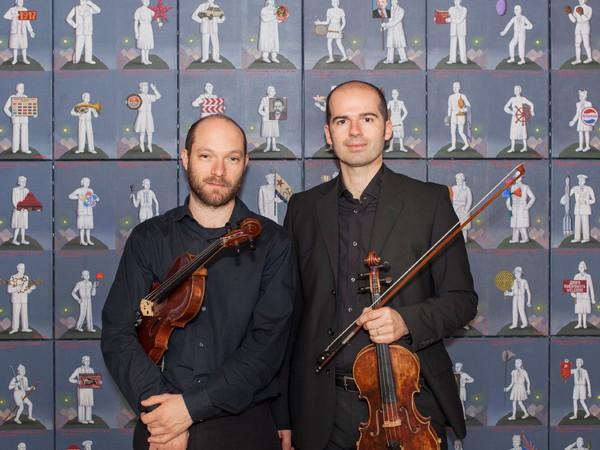 I violinisti Massimiliano TieppoeTiziano Guarato