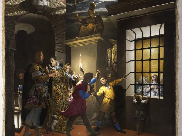 Antonio Campi, Santa Caterina visitata in carcere dall'imperatrice Faustina, Santa Maria degli Angeli, Milano