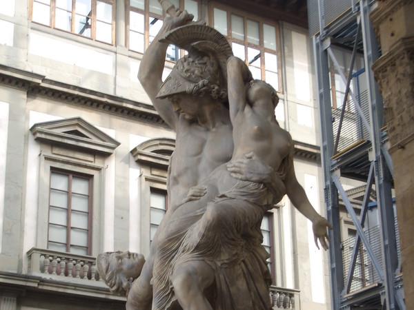 Pio Fedi, Ratto di Polissena, 1850-1855. Loggia dei Lanzi, Firenze