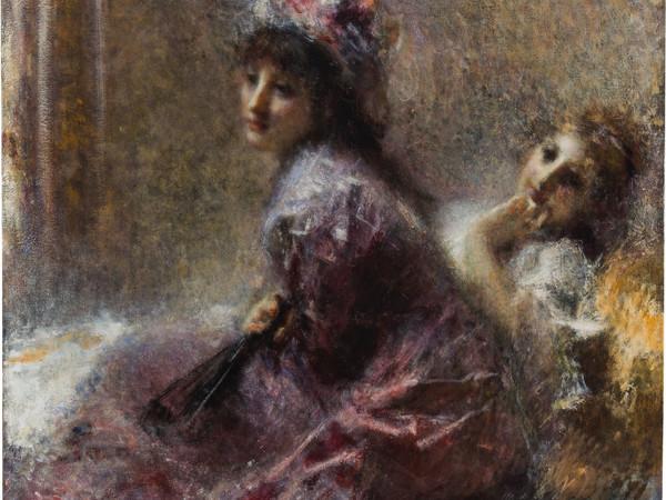 Tranquillo Cremona, In ascolto, 1874-1878, olio su tela, 115,5x129,5 cm.