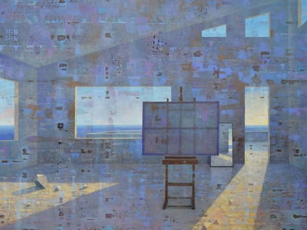 Giuseppe Modica, (AR)Studium, 2016, olio tela, cm. 130x162