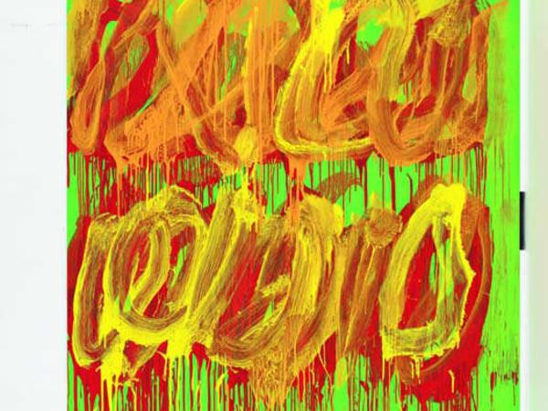 """Cy Twombly, """"Untitled (Camino Real V)"""", 2011. Acrilico su legno, 252,5 x 187,2 cm"""