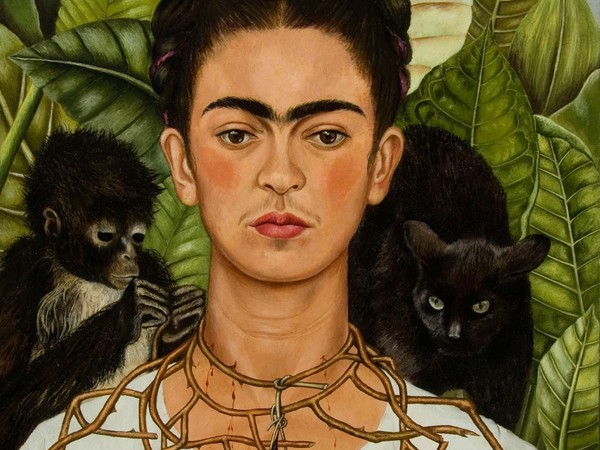 Frida Kahlo, <em>Autoritratto con collana di spine</em>, New York