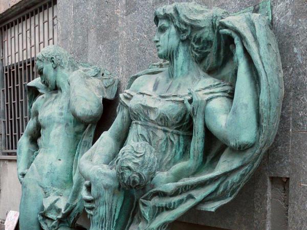 Giuseppe Romagnoli, L'amor Patrio e Il Valore Militare, Palazzo d'Accursio, Bologna