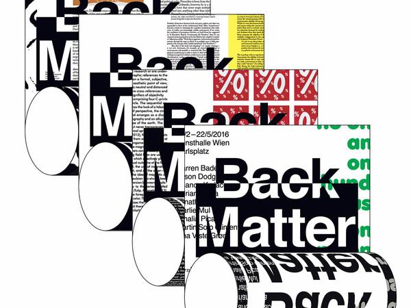 Boy Vereecken. Back Matter