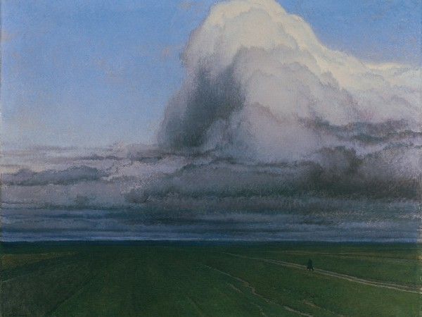 Ferdinand Brunner, Il viandante, 1908, olio su tela. Vienna, Galleria del Belvedere