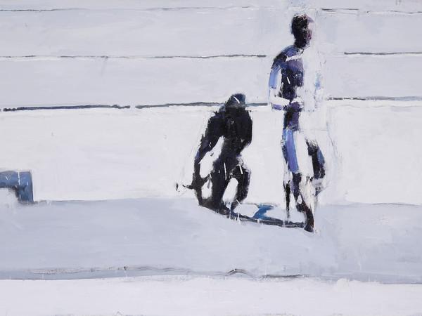 Alessandra Giovannoni, Canicola, 2013, olio su tela, cm. 60x140